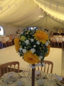 Farr & Stewart Wedding 31.08.12 - Table Centre Piece Arrangment