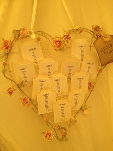 Priest & Howlett Wedding 21.07.12 - Table Plan
