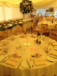 Priest & Howlett Wedding 21.07.12 - Table Set Up