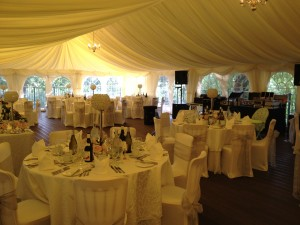 Ballard & Sarno Wedding 29.06.12 - Marquee Set Up