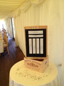 Broe & Everitt Wedding 25.08.12 - Table Plan