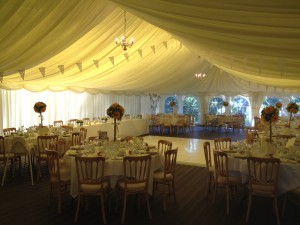 Farr & Stewart Wedding 31.08.12 - Tables & Dance Floor