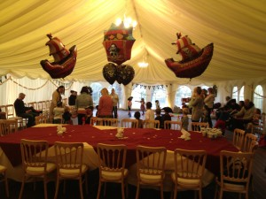 Pirate Birthday Party 27.10.12 - Party Set Up